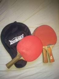 3 raquetes de tênis de mesa ,2 usadas ,1 semi nova profissional
