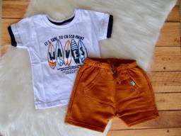 Conjunto Infantil Colorittá Menino Camiseta E Bermuda