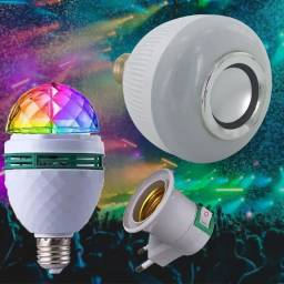 Kit 2 lâmpadas uma com Bluetooth e outra de luzes pra festa