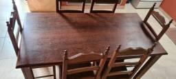 Mesa sucupita 6 cadeiras