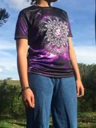 Camisa Mandala Om Roxa