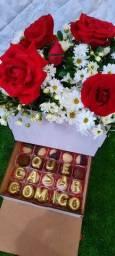 Buquê  de rosas, box de rosas naturais
