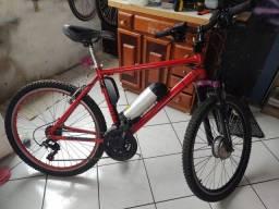 Bicicleta elétrica 350 watts aro26 alumínio