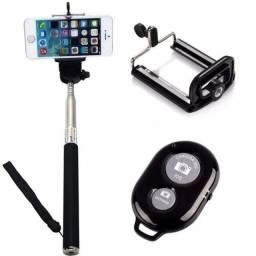 Bastão Universal De Selfie Pau De Self Com Controle Bluetooth