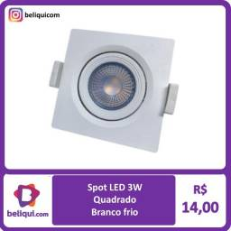 Título do anúncio: Spot LED Quadrado 3W | Branco Frio e Branco Quente