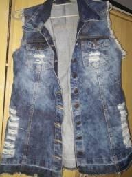 Jaqueta mercatto, colete jeans