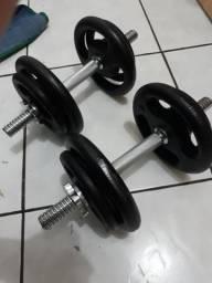 Halteres / peso academia / musculação
