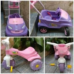 Carro e triciclo infantil