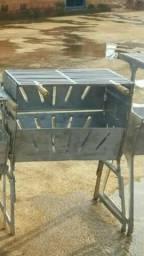 Churrasqueira de alumínio desmontável