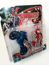 Kit Bonecos com Moto Heróis Vingadores E Liga Da Justiça