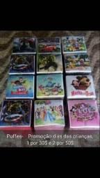 Promoção pro dia das crianças puff