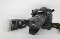 Câmera Nikon D200 Com Lente Tamron Af 28-75mm F/2.8 + Grip + Flash