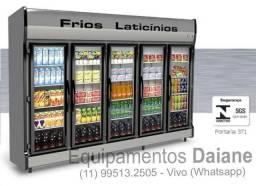 Conservex Expositora 5 portas de vidro para bebidas, frios e laticinios
