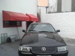 Volkswagen santana confortline, 4 portas, cor preto, completo, alcool e gnv - 2006