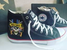Tenis All Star Converse Guns Roses