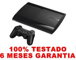 Título do anúncio: PS3 super slim, 6 meses de garantia, AvaliamosTroca, Loja física desde 2004.