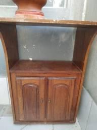 Móvel antigo de madeira maciça - Unamar