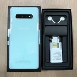 Loja física. Samsung s10 Plus 128GB BRANCO, 1 mês de uso, nota fiscal, 2 capas originais