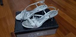 Sandália de festa prata