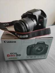Canon EOS Rebel T6 + Lente 18-55mm + Bolsa