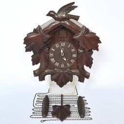 Relógio Cuco Antigo Década De 30/40 Original - Modelo 2s - Raridade!