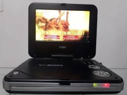 """DVD portátil com tela 7"""" Coby"""