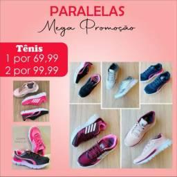 2 pares de tênis por R$99,99