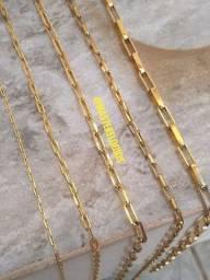 Corrente banhada a 10 milesimos de ouro 18k (1 ano garantia)