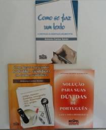 Kit de 3 livros de Português