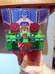 Zelda link to the past - diorama em cubo geekrama super Nintendo snes