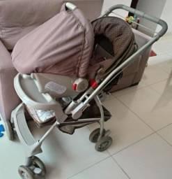 Kit Carrinho e Bebê Conforto Galzerano