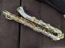 Sax Barítono Mib banhado a prata