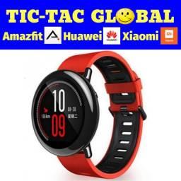 Promoção!!! Amazfit Pace - versão global (novo lacrado) Pulseiras Vermelhas Smartwatch