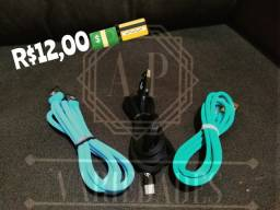Cabo USB x V8 ou tipo C