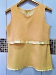 Blusa Amarela com Detalhe em Cetim