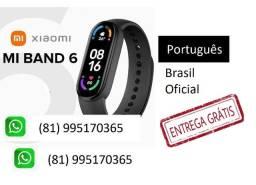 Xiaomi Mi Band 6 em português Smartwatch Relógio Inteligente oximetro