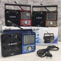 Rádio 1088 Am/fm Bluetooth/ pen Drive/ aux Recarregável