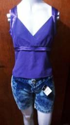 Blusinha+short jeans