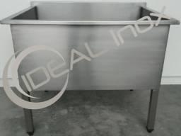 Tanque uso Geral 950x750x900mm Aço Inox Industrial