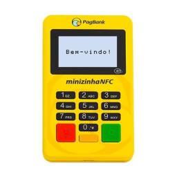 Nova Minizinha PagSeguro NFC Pagamento Por Aproximação (NFC) Com Luz Na Tela