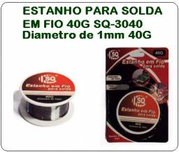 Soldas em Fio Estanho Para Solda 40 G SQ-3040