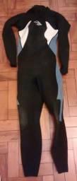 Título do anúncio: Long John manga longa feminino tamanho P - Mormaii 3.2mm