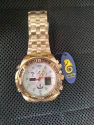 Relógio Original Atlantis Dourado (( Novo ))