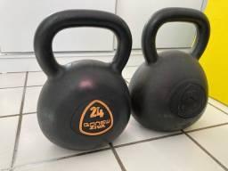 Kettlebells emborrachados 24kg e 32kg