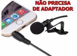 Microfone de Lapela 3 para Celulares e Notebooks