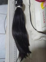 Título do anúncio: Mega hair preto lindíssimo, 40 cm e 200 gramas