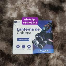 Lanterna Cabeça Led Camping Pesca Bike Recarregável Luatek