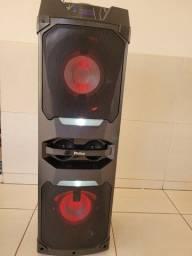 Caixa Acústica 1600w Philco Torre PCX16000 Bluetooth USB Microfone FM e 1600W nova