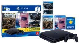 Título do anúncio: PS4 Slim 1 TB NOVO / Garantia de 1 ano