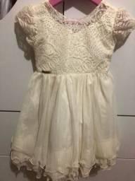Vestido infantil novo 80,00 1/2 - anos